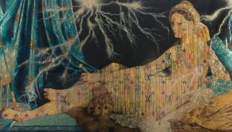 Illaminated Jean Auguste Dominique Ingres, Grand Odalisque, 2015